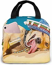 Drunk Chihuahua Pug Dog Lunch Bag Insulated Lunch