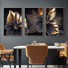 dsdsgog Abstract Luxury Blossom Flower Leaf Canvas