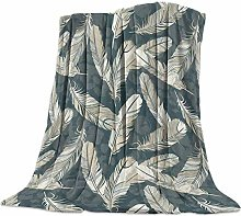 DSFAA Art Gallery Brown Fallen Feather Fleece Bed