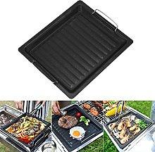 DSFSAEG Cast Iron Griddle Pan for BBQ, Non Stick