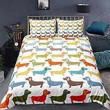 dsgsd 3D Duvet Cover animal cute colorful dog