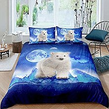 dsgsd 3D Printed Blue animal polar bear moon Kids