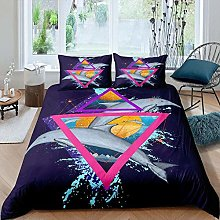 dsgsd bed duvet cover set Animal dolphin water