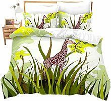 dsgsd bed sheet duvet cover set African animal