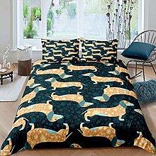 dsgsd bedding 3 piece duvet cover set animal cute