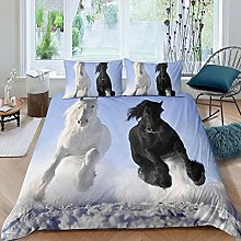 dsgsd bedding double bed Snow animal white black