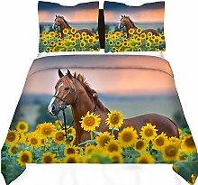 dsgsd bedding duvet cover set Yellow sunflower