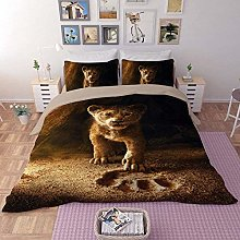 dsgsd double bed sheets Animal brown lion 135 x