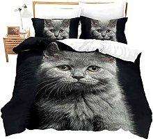 dsgsd double bed sheets Simple cute grey cat