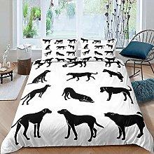 dsgsd duvet cover Black and white cute animal dog