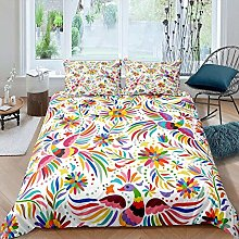 dsgsd king bed duvet cover set animal colorful