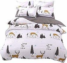 dsgsd king bed duvet cover set animal yellow elk