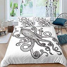 dsgsd king duvet cover Sea animal octopus sketch