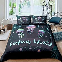 dsgsd king size duvet cover colorful jellyfish