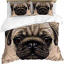dsgsd single duvet cover set Animal khaki pet dog