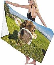 DSSYEAH Wallpaper Desktop Cow Beach Towels