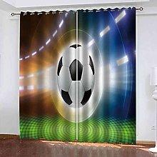 DSVNNZ 3D Blackout Curtains with Grommet Digital