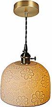 DSYADT Pendant Light Fitting Vintage Ceramics