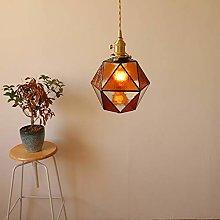 DSYADT Pendant Light Fitting Vintage Glass Ceiling