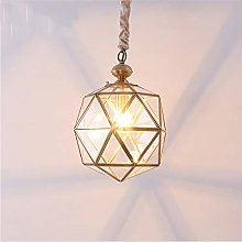 DSYADT Vintage Geometry Glass Pendant Light