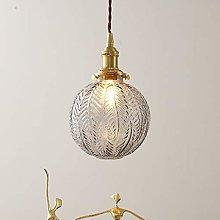 DSYADT Vintage Glass Pendant Light Fitting