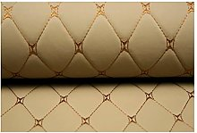 DT-DT Leatherette Upholstery Beige Leather Diamond