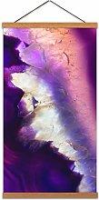 Dt Gemstone Purple Crystal Canvas Wall Art Print