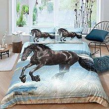 DTBDWOSY® Bedding Set King 220X230 Cm Black Wild