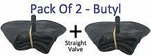 Dtkh BUTYL 3.50 x 8 INNERTUBE WHEELBARROW INNER TUBE Straight Valve