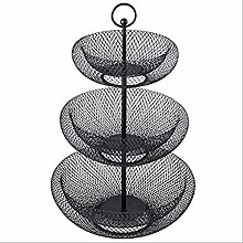 DTNSSTB 3 Tier Metal Fruit Bowl, Artificial Fruit