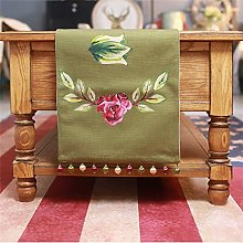 DTNSSTB Table Runner Cotton And Red Rose Long