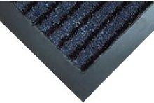 Dual Action Contemporary Door Mat, Black/Blue,
