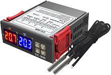 Dual display and dual control temperature