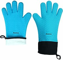 Dualeco Silicone Oven Gloves - Heat Resistant