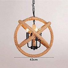 DUANCUICUIZ Durable Chandeliers Retro Hemp Rope