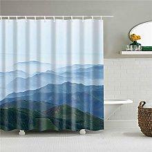 duanyunmei 3d shower curtain set with hooks