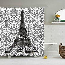 duanyunmei black white Paris Landscape Shower