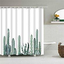 duanyunmei Plant Cactus Printing Shower Curtain