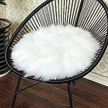 DUCHEN Faux Fur Seat Pad,Foot Stool Cover