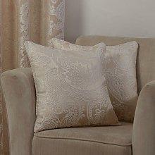 Duchess Cushion Cover Cream 17x17' Bed Sofa