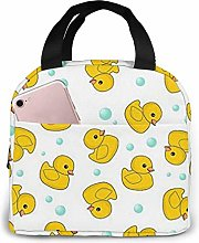 Duck Bubble Pattern Yellow Reusable Insulated