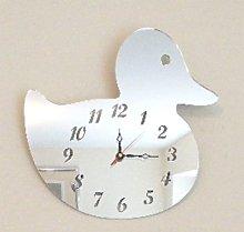 Duck Clock Mirror 35cm x 30cm (3mm acrylic mirror