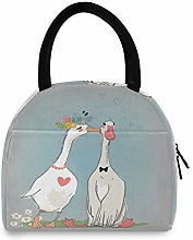 Duck Couple Lunch Bag Cooler Bag Insulated Lunch