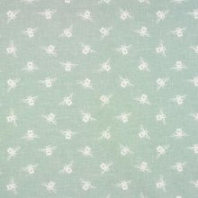 Duck Egg Bees Oilcloth Wipe Clean Tablecloth 132cm