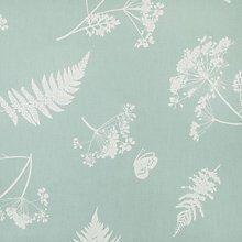 Duck Egg Blue and White Moorland Leaf Floral