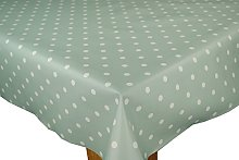 Duck Egg Green Dotty PVC Wipe Clean Tablecloth by