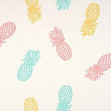 Duck Egg, Pink and Yellow Pineapples PVC Vinyl