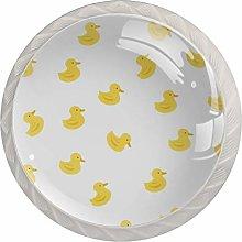Duck Pattern Crystal Glass knobs Drawer Knob Pull