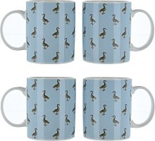 Duck Print Bone China Mug Brambly Cottage