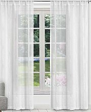 Duck River Textile Curtain Set, White, 37x84